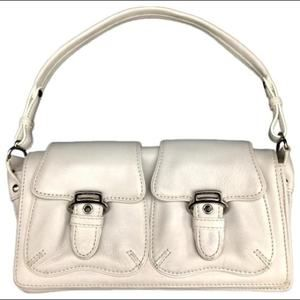 Cole Haan Alexa White Soft Leather Shoulder Bag